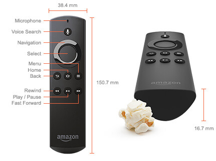Amazon Fire TV voice Remote with buttons