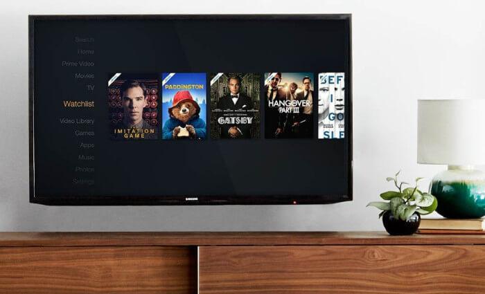 Amazon Prime Instant Video TV screen