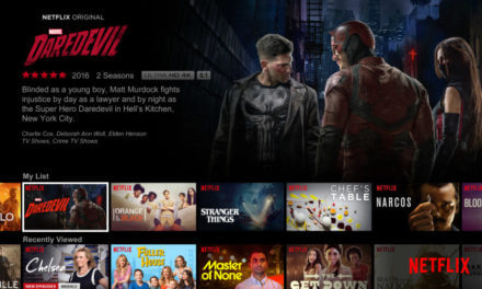 Netflix streaming video interface with daredevil