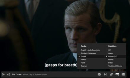 Netflix The Crown with Subtitles
