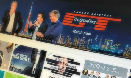 Screen with amazon prime instant video interface