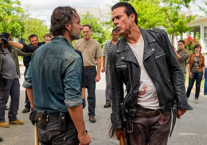 The Walking Dead season 7 andrew lincoln and Jeffrey dean morgan