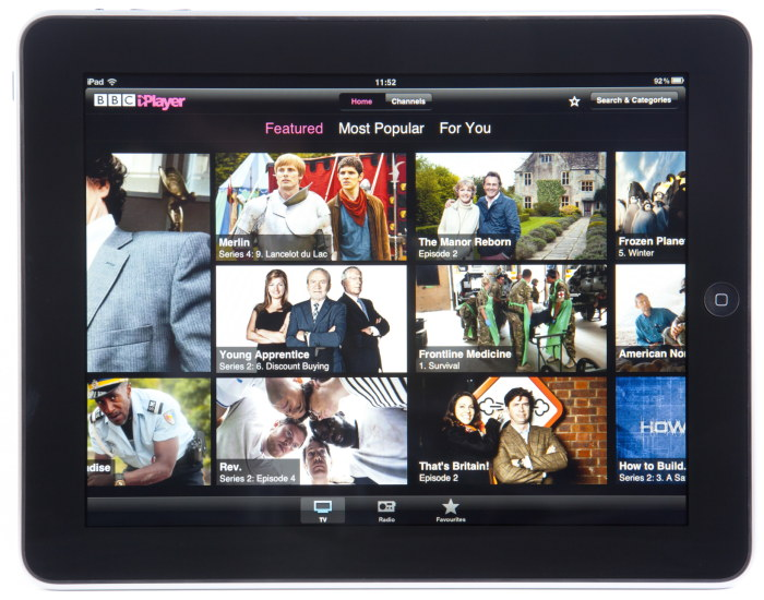 BBC iplayer on ipad