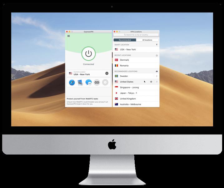 ExpressVPN Mac Screenshot