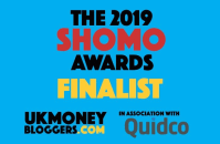 UK Money Bloggers award shomos 2019