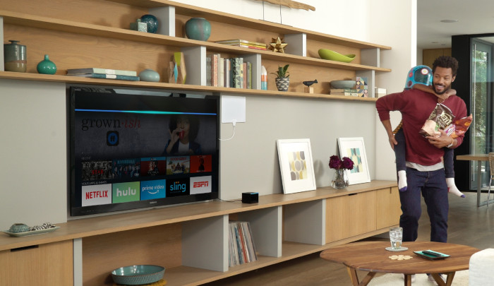 Amazon Fire TV Cube living room