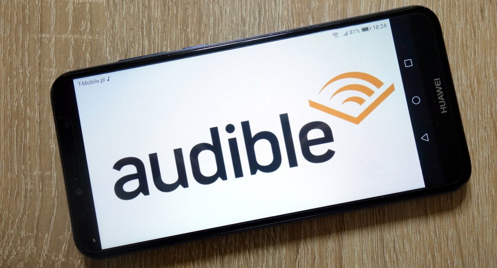 Audible app on smartphone 1000