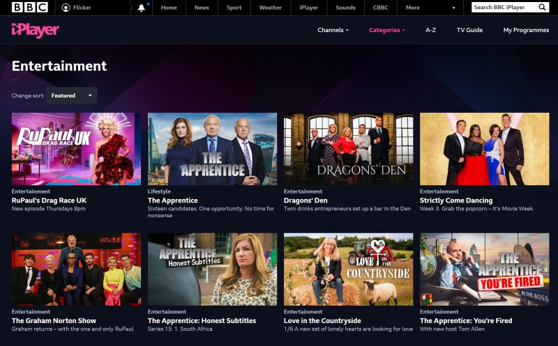 BBC iPlayer full screenshot