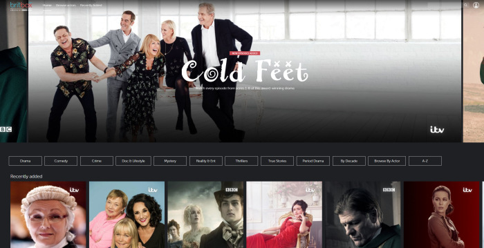 BritBox beta main screen