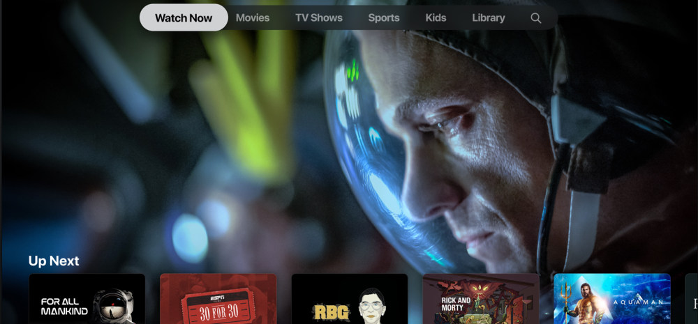 Apple TV Plus main screen 1000