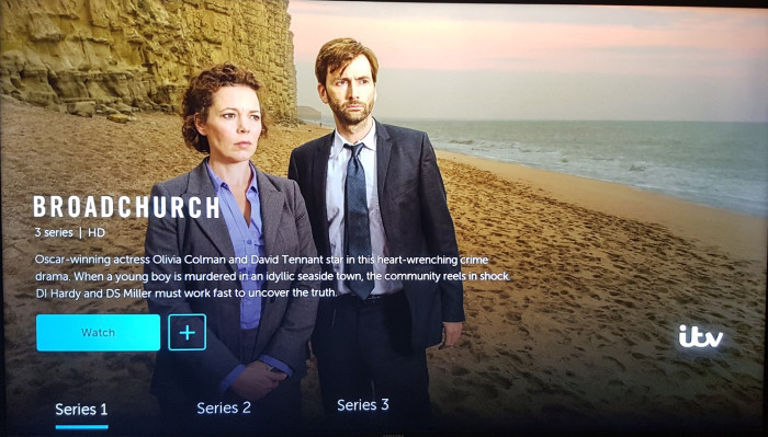 BritBox app on a Samsung TV
