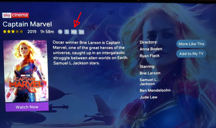 Captain Marvel NOW TV HD