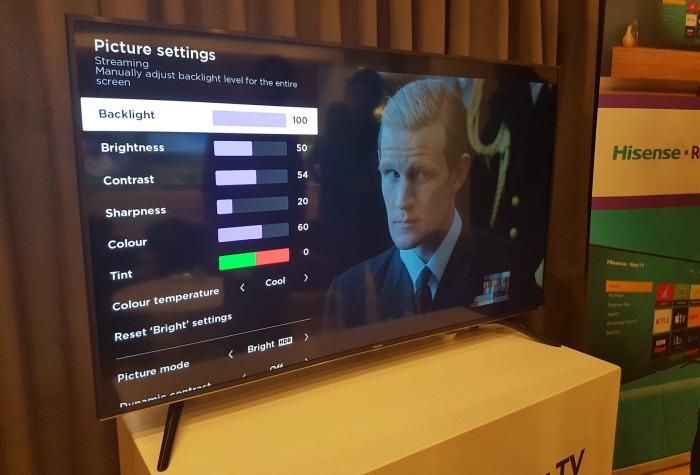Roku TV hisense settings
