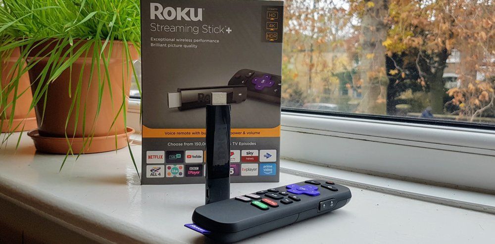 Roku streaming stick plus window 1000