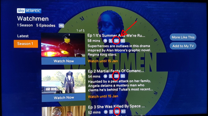 Watchmen NOW TV HD