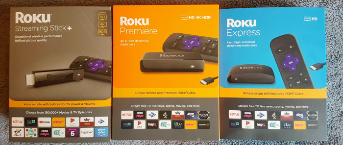 Roku streamers side by side