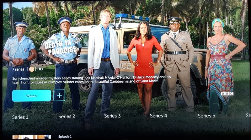 BritBox series screen on amazon fire tv