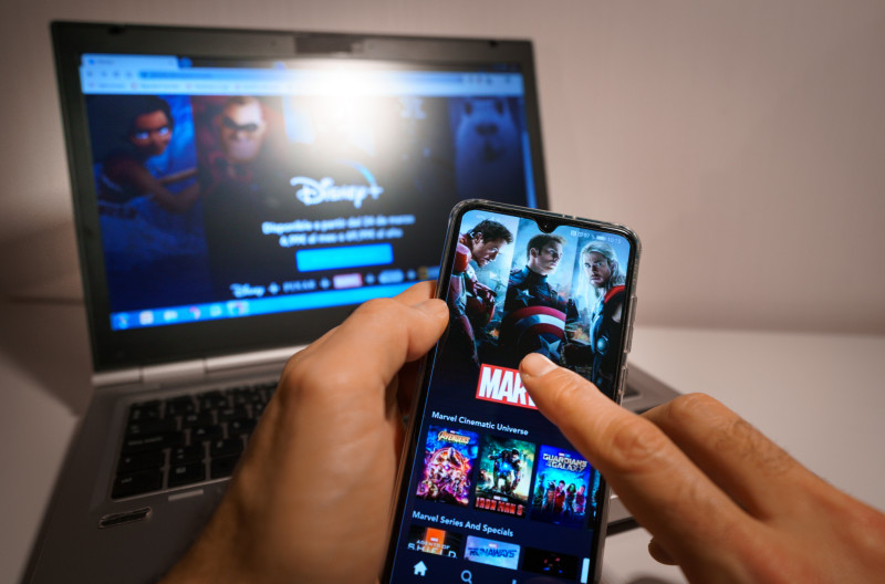 DisneyPlus on smartphone and computer 800