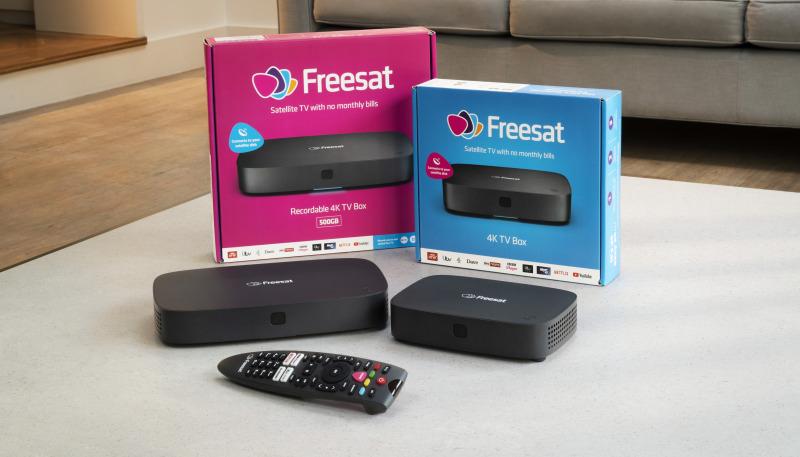 Freesat 4K boxes living room