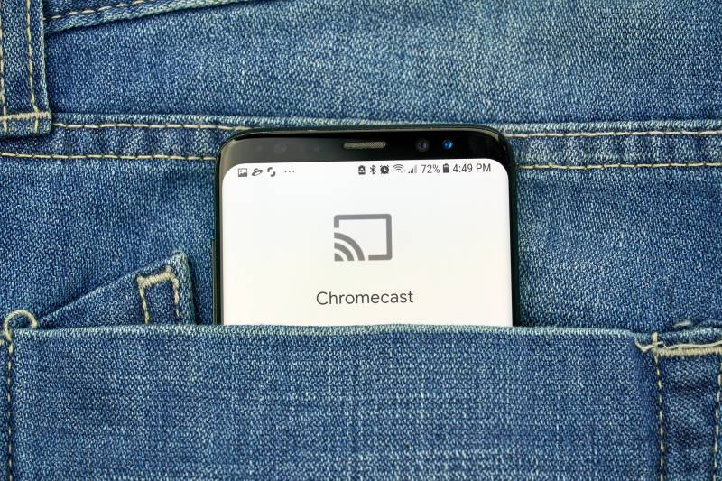 Google Chromecast app on phone