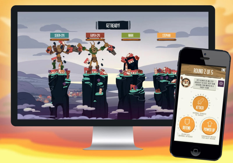 Tricky Titans chromecast game