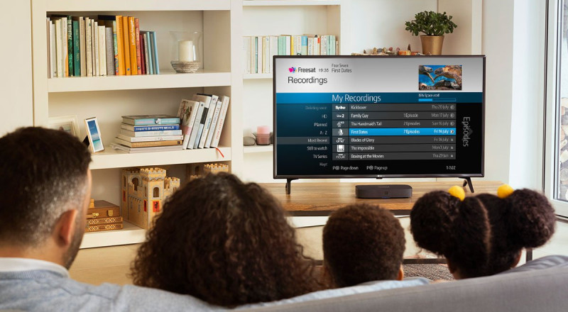 Watching freesat in living room