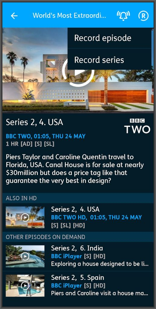 The YouView app