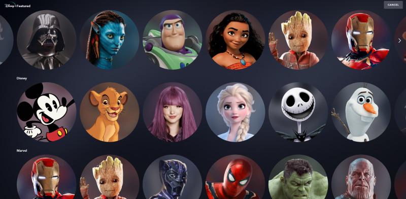 Disney-Plus-profile-icon-selection