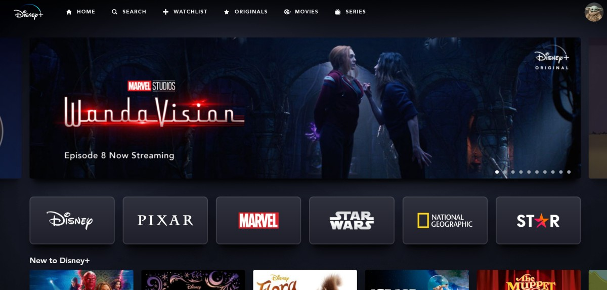 DisneyPlus with Star wandavision