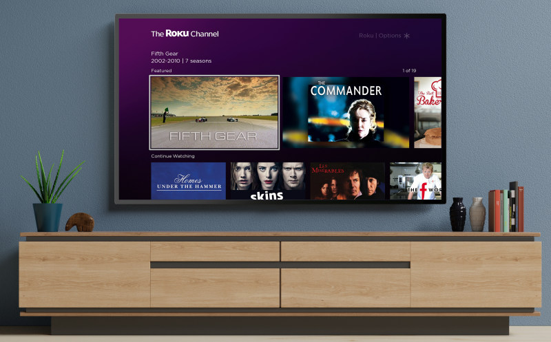 The Roku Channel UK homescreen 800
