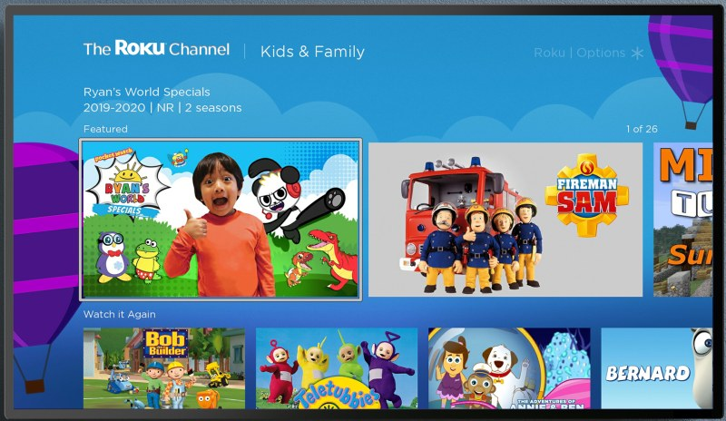 The Roku Channel uk kids and family 800