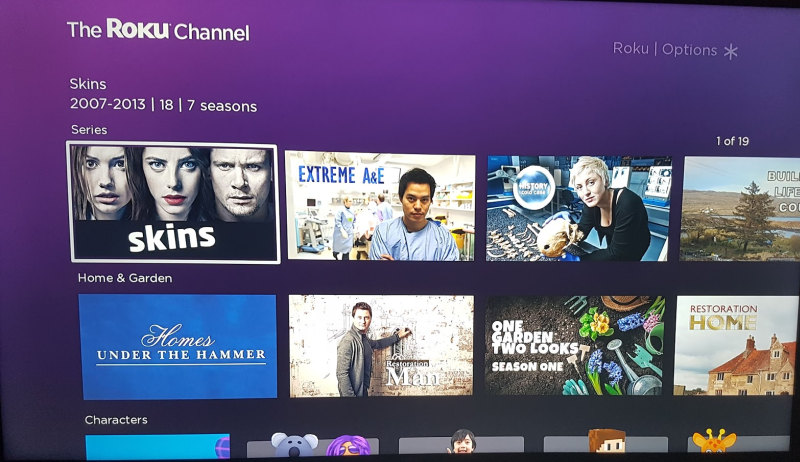 the roku channel on tv