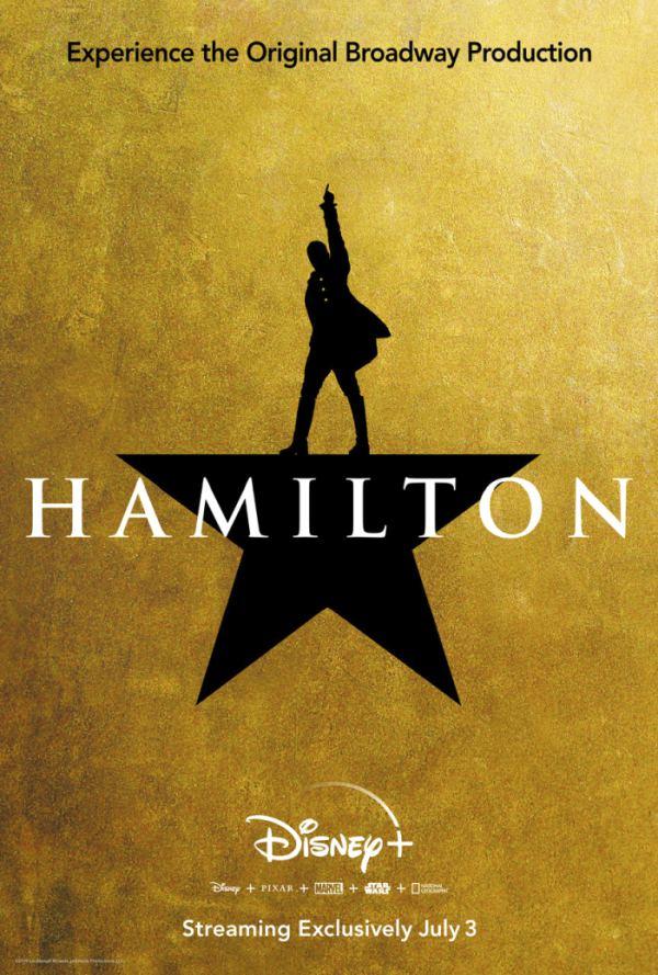 Hamilton musical disney plus poster