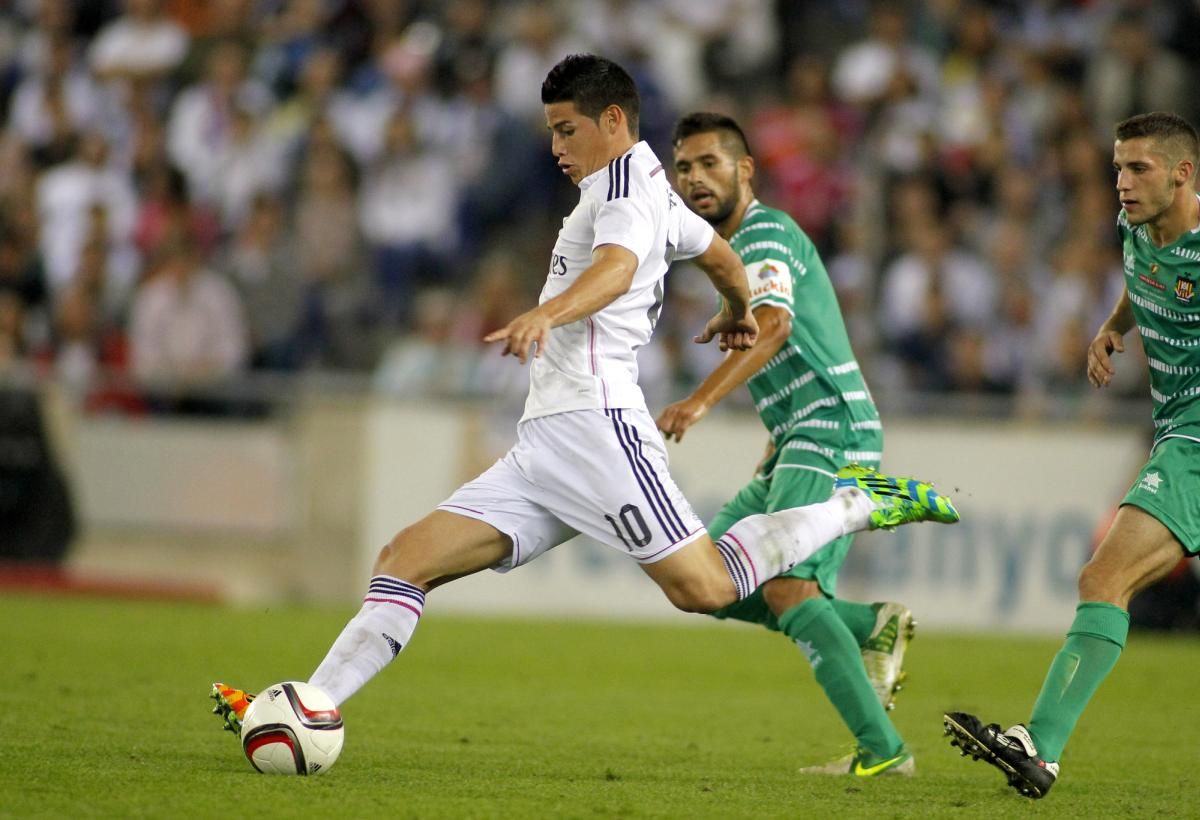 James Rodriguez of Real Madrid la liga