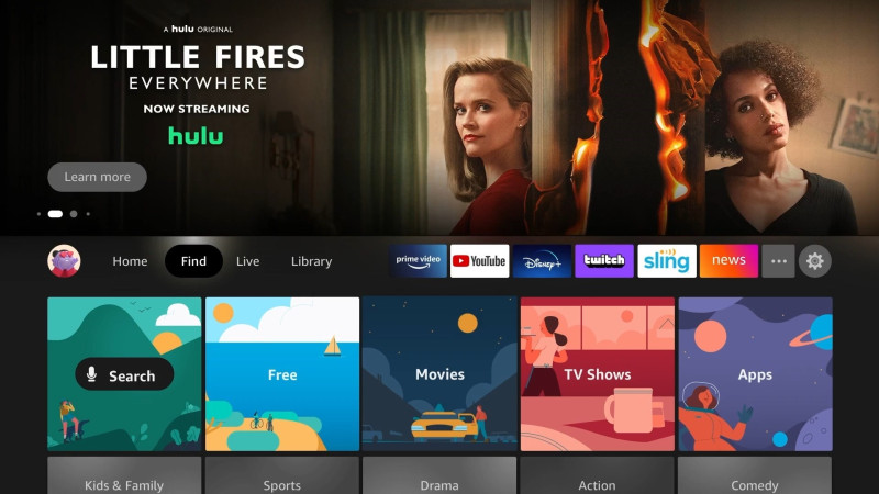Amazon Fire TV new interface