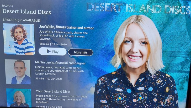 BBC Sounds desert island discs roku