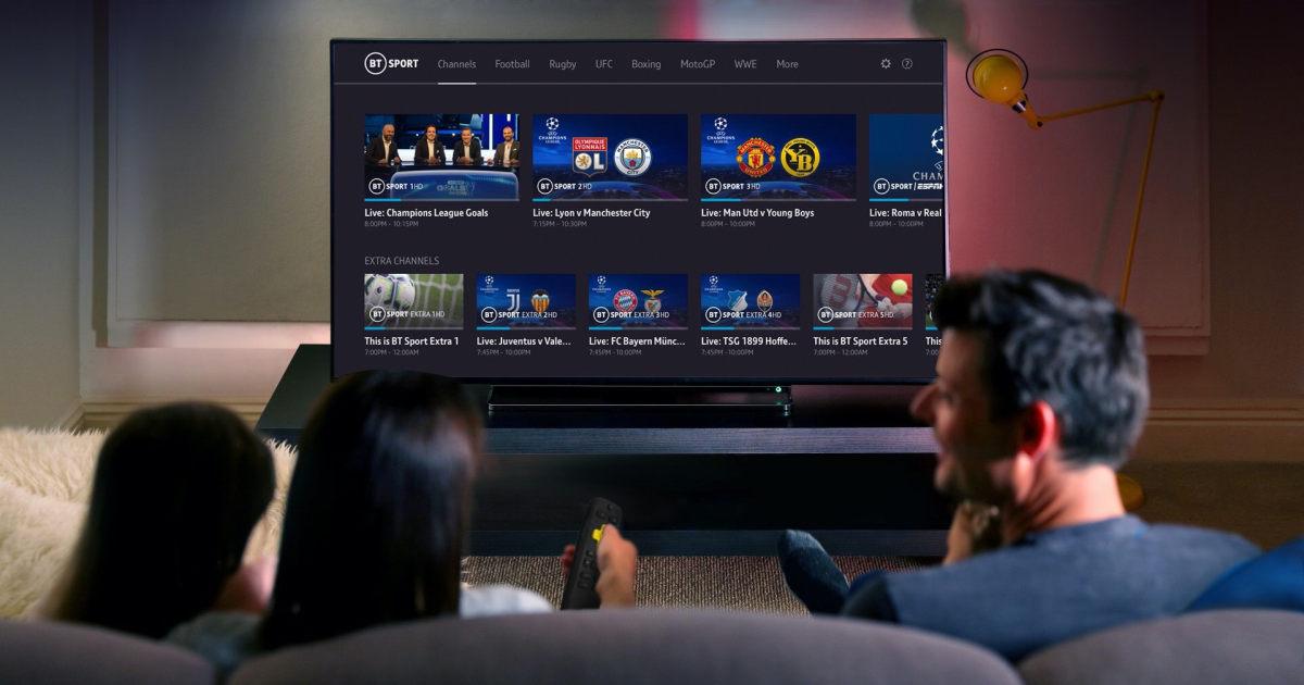 BT Sport streaming on TV