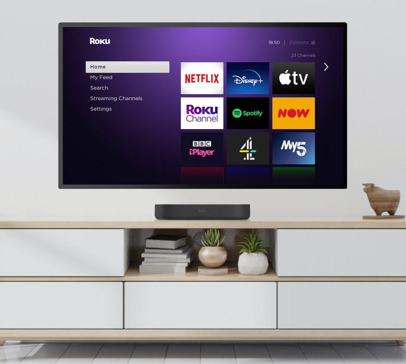 Roku Streambar in Living Room