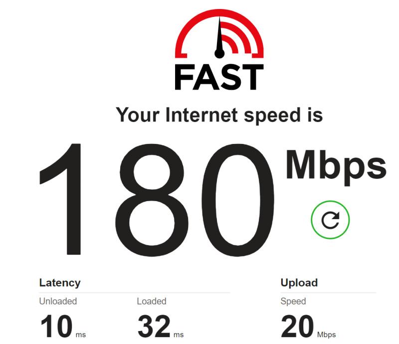 D-Link Fast speedtest laptop bedroom