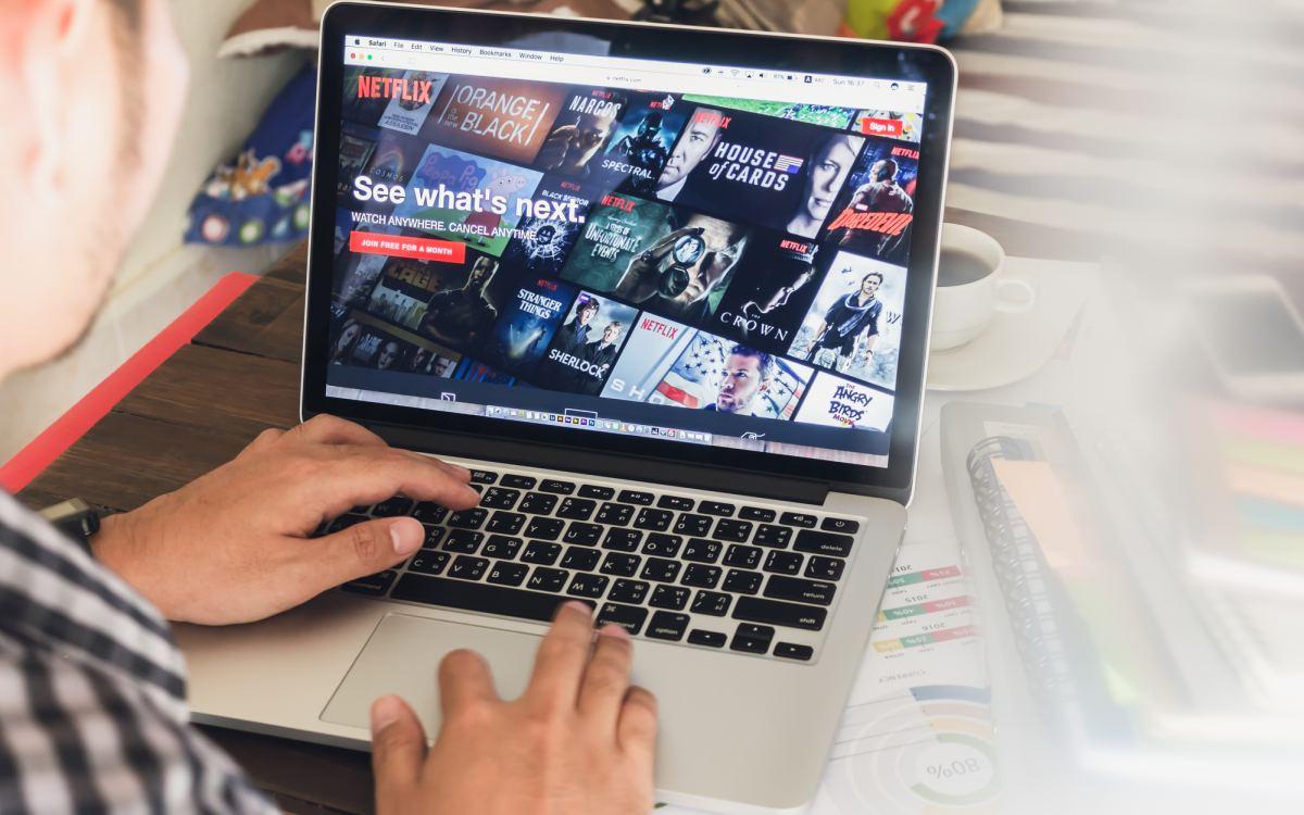 Netflix on laptop