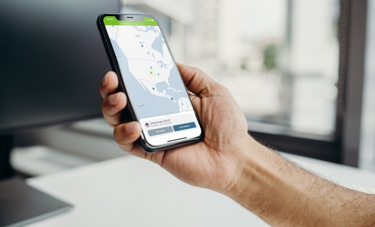 NordVPN US on mobile