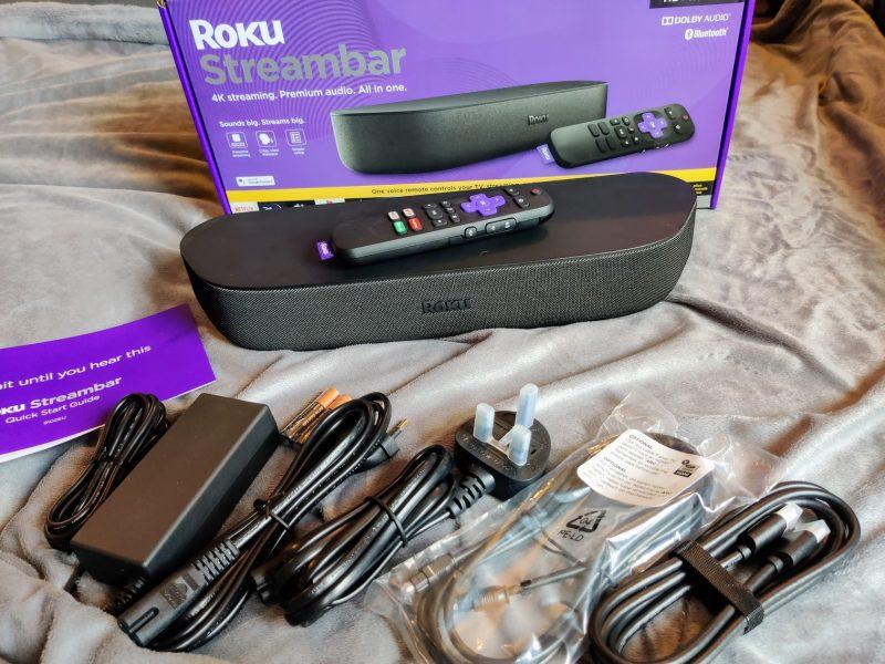Roku Streambar in the box