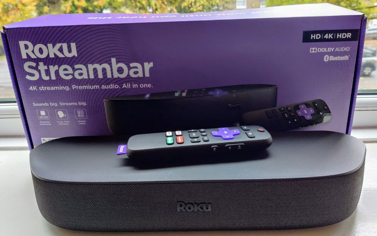 Roku Streambar on window