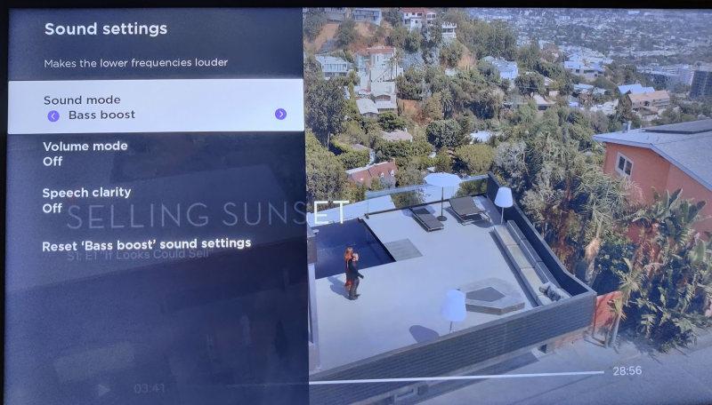 Roku streambar sound options on screen