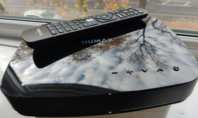 Humax Aura closeup