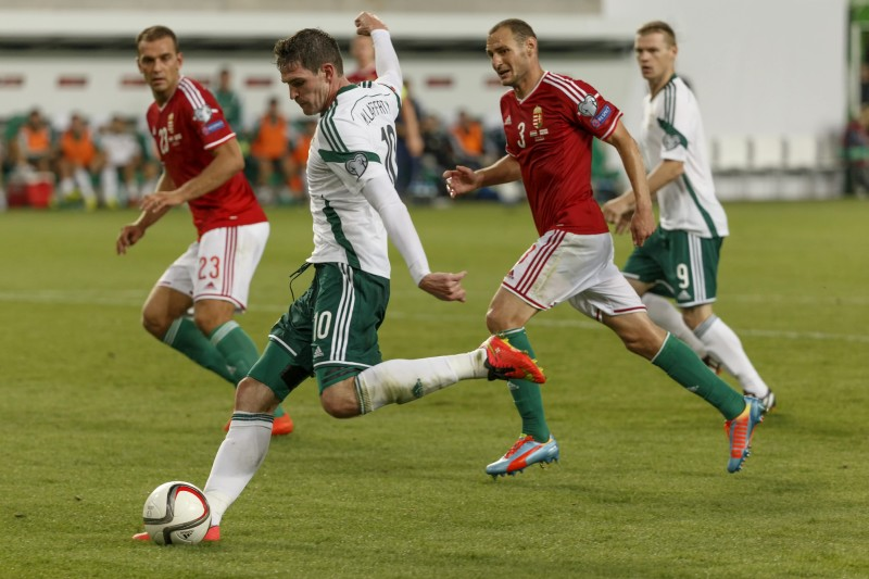 Hungary VS Northern Ireland in the UEFA Euro 2016 qualifiers