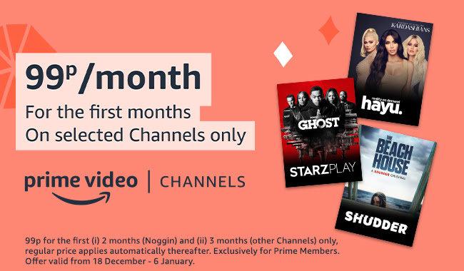 Amazon channels 99p Christmas 2020