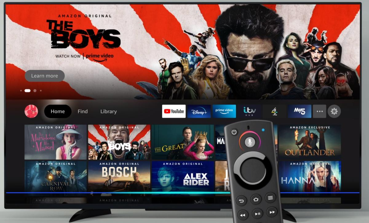 Fire TV new interface with remote