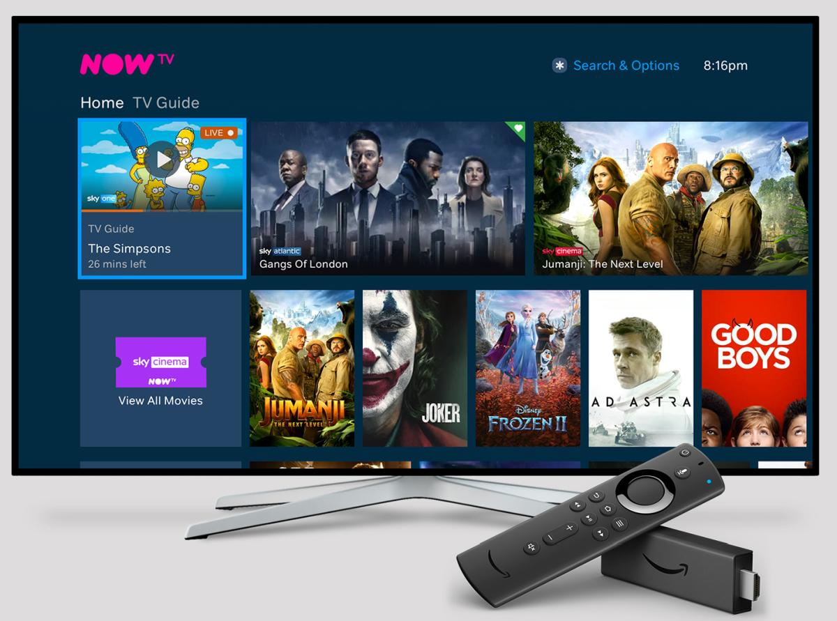 NOW TV on Fire TV lite