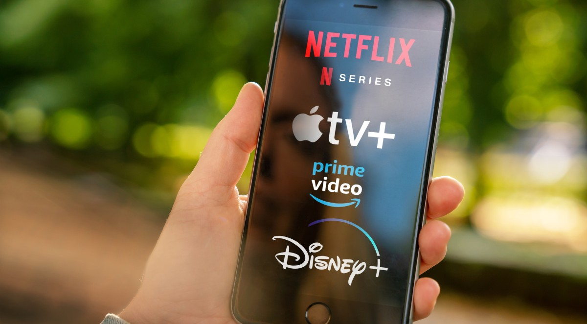 Streaming services on phone netflix apple prime video disney